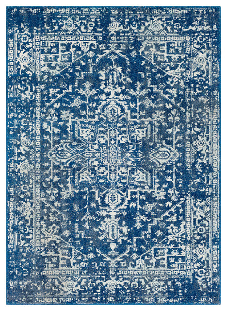 harput traditional dark blue teal area rug contemporary area rugs by surya. Black Bedroom Furniture Sets. Home Design Ideas