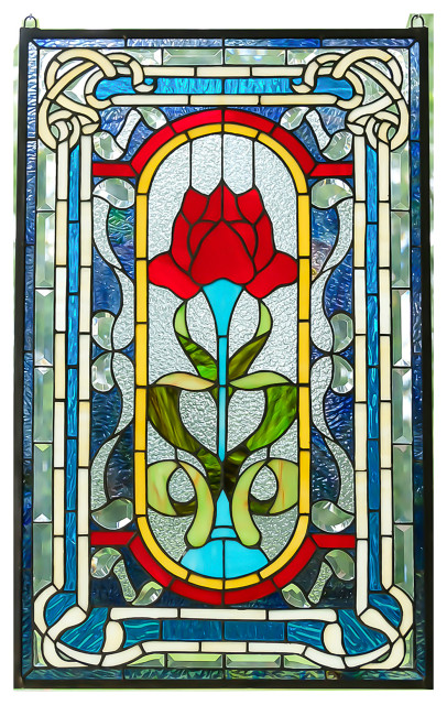 Victorian Stained Glass Panels, Victorian Stained Glass Window Panels