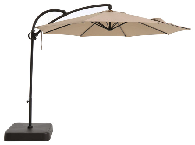 Offset Outdoor Cantilever Umbrella With Sand Fillable