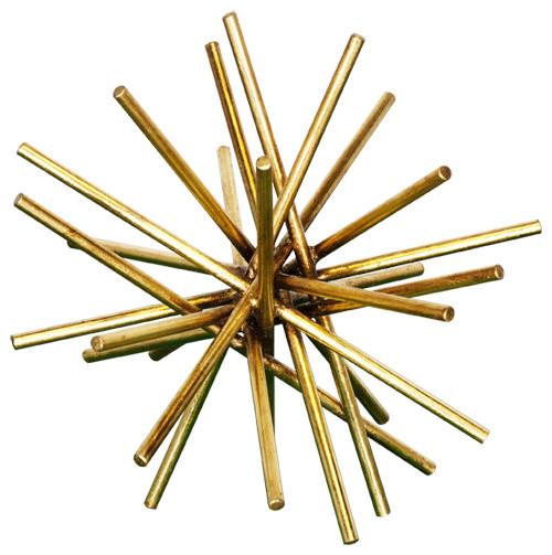 worlds away urchin accent gold leaf 9 inch craftsman decorative accents - Decorative Accents