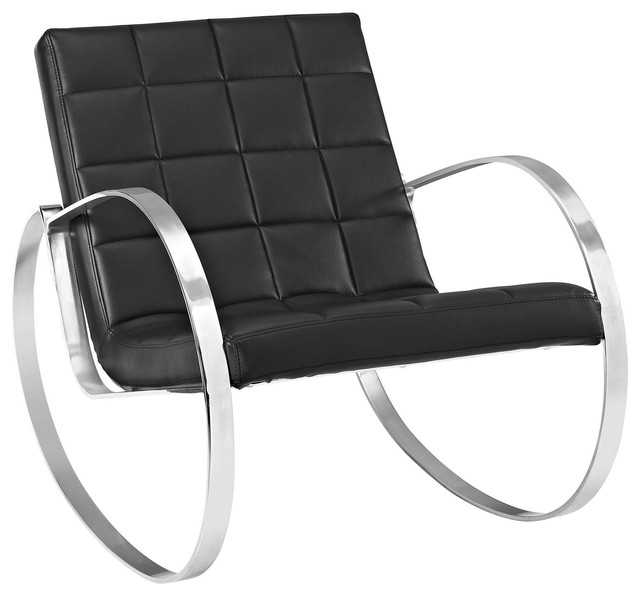Enjoyable Meridian Vegan Leather Lounge Chair Black Machost Co Dining Chair Design Ideas Machostcouk