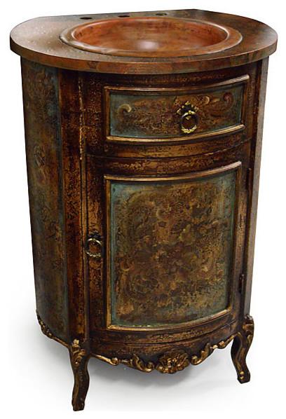 victorian style bathroom vanity units copper single sink freestanding vanities bath