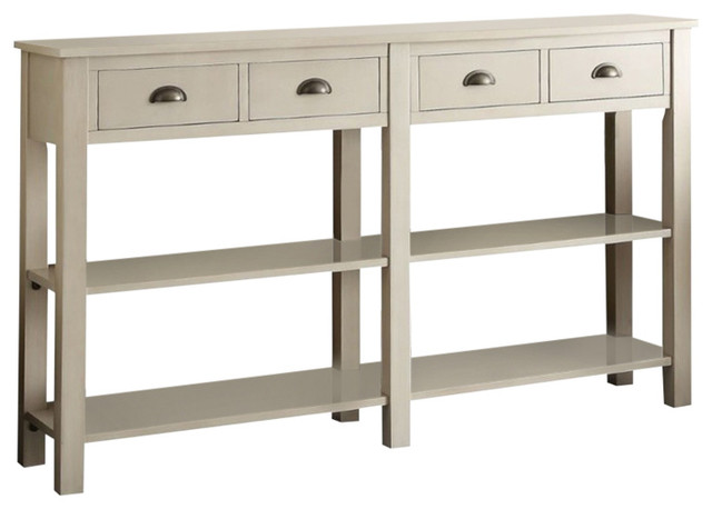 Bowery Hill 72 Console Table In Cream