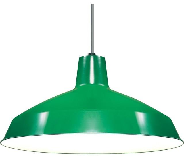 "Nuvo Lighting 1-Light 16"" Pendant, Warehouse Shade, Green"