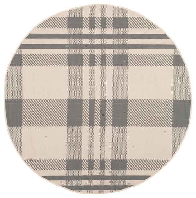 Safavieh Claremont Rug, Gray And Bone, 5&x27;3x5&x27;3 Round.
