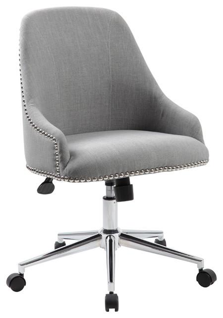 Superbe Boss Office Carnegie Desk Chair In Gray