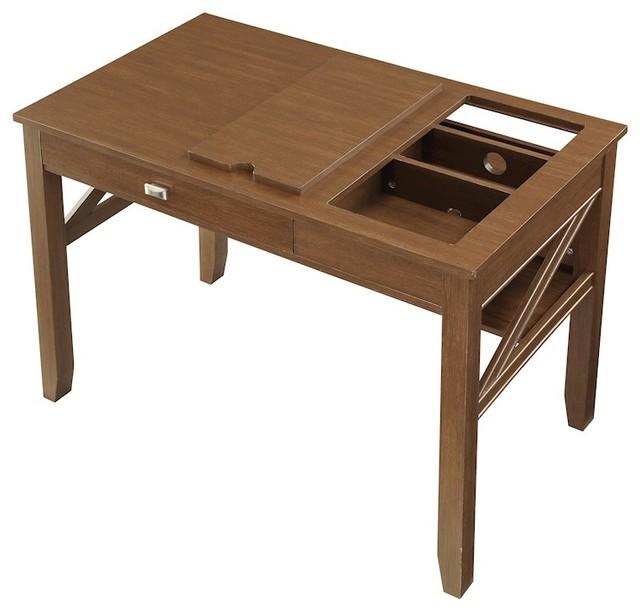 Osp Designs Landon Writing Desk Light Old Wood Finish