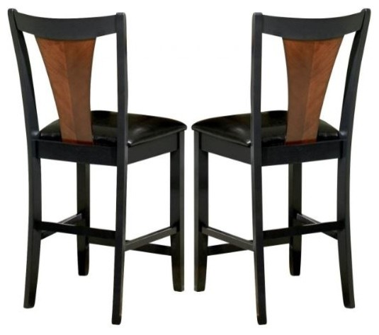 Groovy Boyer Contemporary Two Tone Bar Stool Set Of 2 Dailytribune Chair Design For Home Dailytribuneorg