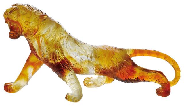 Daum Crystal Daum Crystal Amber Bengal Tiger 03448