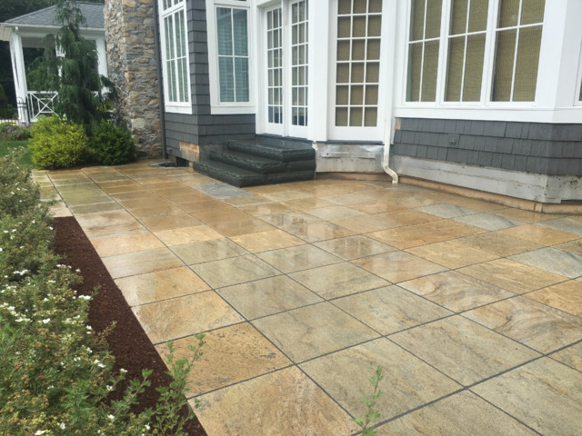 Wheaton Granite with Bluestone Steps