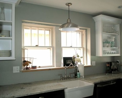 I Have A Wall Mounted Barn Light Version Lights Up The Kitchen Well Available In Different Sizes Colors And Shapes