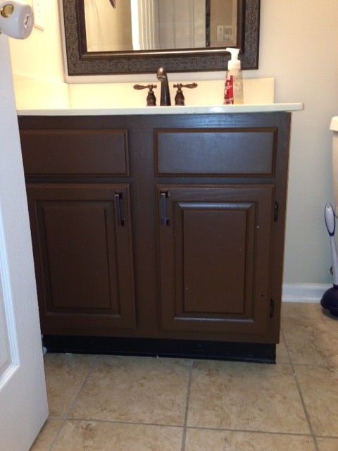 what color to paint bathroom vanity - Painting Bathroom Cabinets Brown