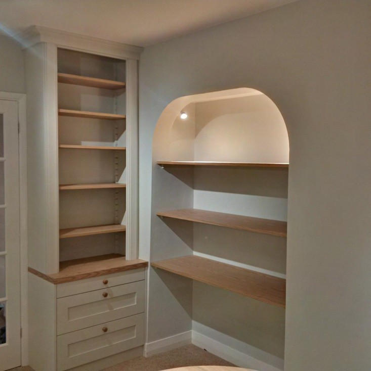 Traditional Victorian Style White Painted Alcoves