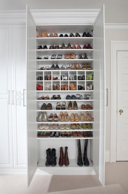 Custom Shoe Closet traditional-shoe-storage