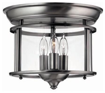 Hinkley Lighting 3473PW Semi Flush 3 Light Foyer Gentry Collection