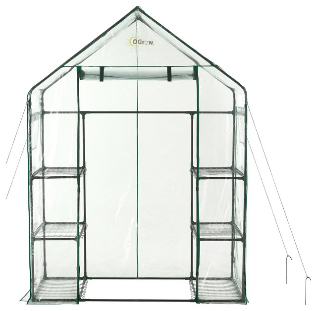 Ogrow Deluxe Walk-In 3 Tier 6 Shelf Portable Greenhouse.