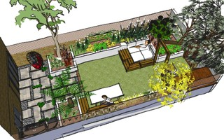 the family garden design birds eye view mediterranean london by earth designs garden and build london and essex