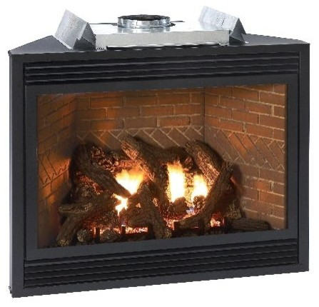Luxury 42 Direct Vent Liquid Propane Multi Function Control Fireplace Contemporary Indoor