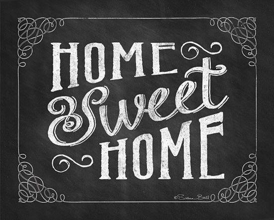 Home Sweet Home Chalk Art Print Contemporary Prints