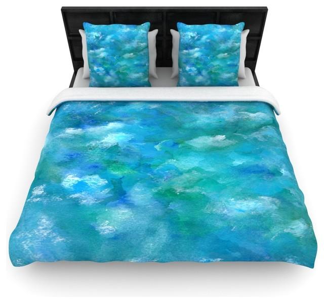 Rosie Brown Quot Ocean Waters Quot Blue Aqua Duvet Cover
