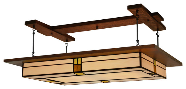 Arts Crafts Style Prairie Light Fixture Vintage 909 Craftsman Pendant Lighting