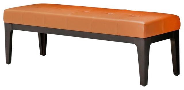 Aico 21 Cosmopolitan Bed Bench Non-Storage, Orange.