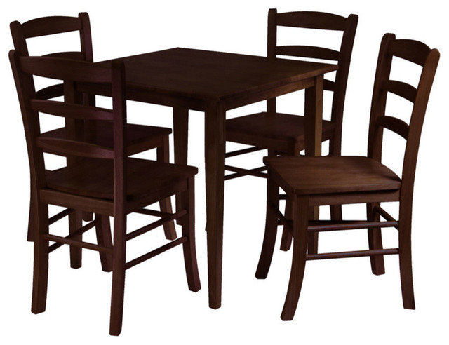Square Table For 4 Part - 15: Winsome Groveland 5-Piece Square Dining Table With 4 Chairs  Transitional-dining-sets