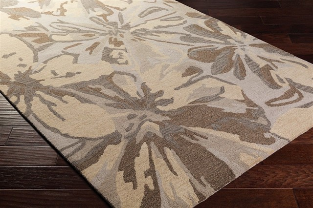 Country & Floral Athena Area Rug, Gray-Neutral, Hearth 2&x27;0x4&x27;.