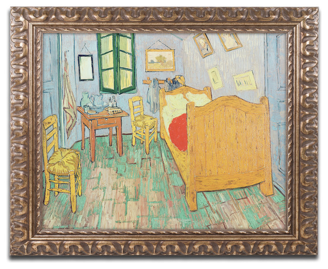 van gogh's bedroom at arles' ornate framed canvas artvincent