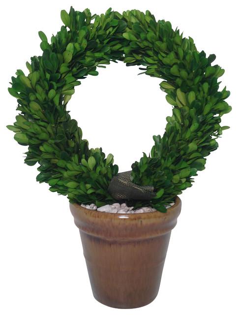 Preserved Boxwood Wreath Topiary.