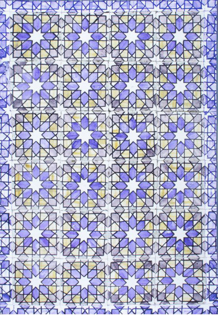 Nuloom Machine Made Classic Tiles Ch06 Tiles Rug Blue 8 2 X 10 11