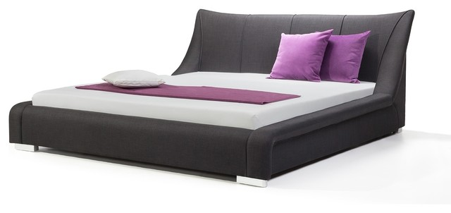 rossetto eclipse king size platform bed in grey upholstery polyvore