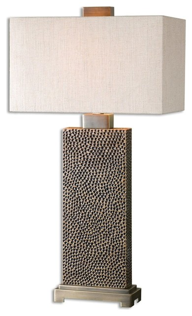 Canfield 1-Light Coffee Bronze Table Lamps.