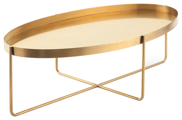 Gaultier Oval Coffee Table Transitional Coffee Tables By Ebpeters