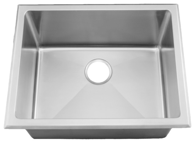"24"" Near-Zero Radius Utility Laundry Sink Top Mount, Undermount, Stainless Steel."