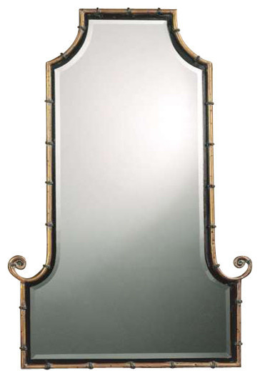 Uttermost Antiqued Gold Himalaya Mirror Asian Bathroom Mirrors By Harvey Haley