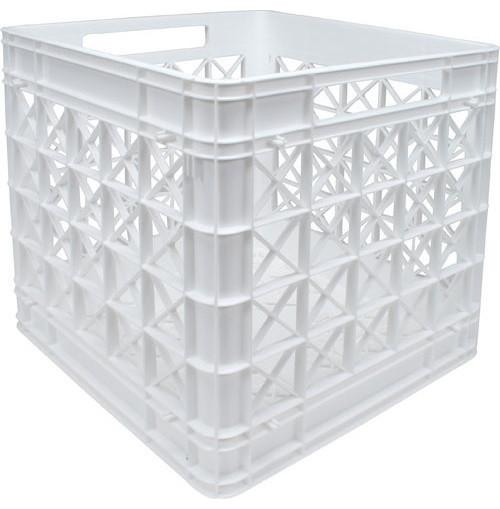 White Stacking Plastic Milk Crate