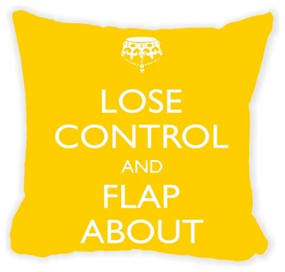 Rikki Knight LLC - Lose Control, Flap About Double-Sided Pillow, Brown & Reviews   Houzz