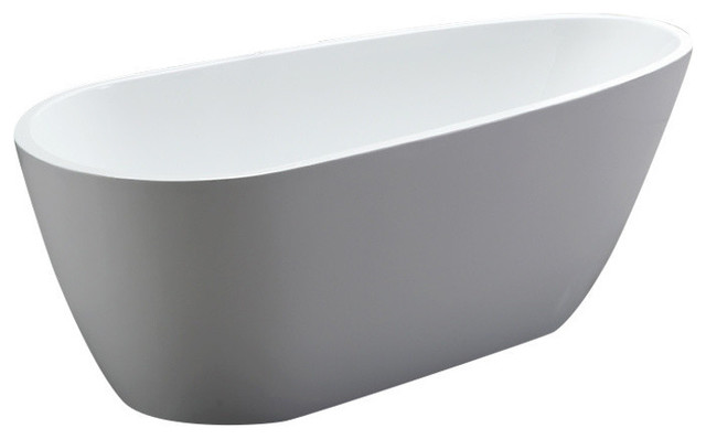 "Acrylic Tub, White, 68""."