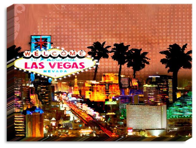 Illuminated Wall Art By Corina Bakke - Las Vegas Skyline. -1