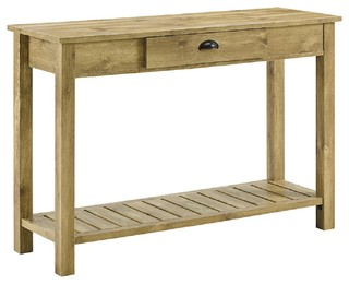 """48"""" Country Style Entry Console Table, Barnwood"""