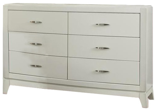 Liberty Furniture Avalon 6 Drawer Dresser, White Truffle.