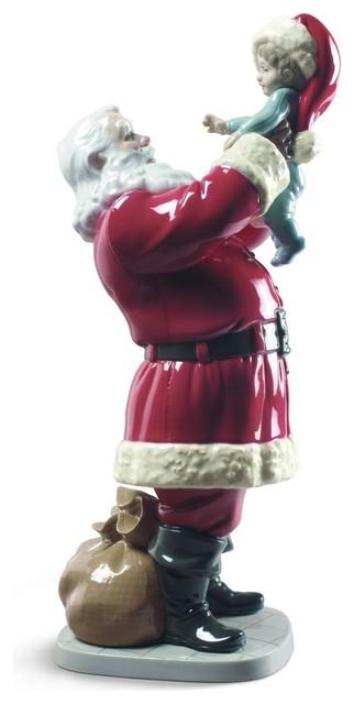 Lladro Merry Christmas Santa Figurine.