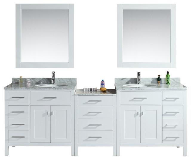 Design Elements Dec076d W 92 Vanity In White