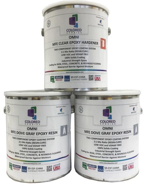 Epoxy Paint 2 1 Part For Garage Floor Basement Concrete Contemporary Paint By Colored