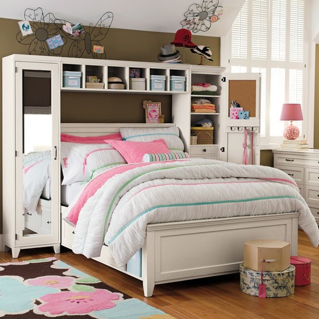Hampton storage bed mirror tower set beds other by for Teen bedroom storage