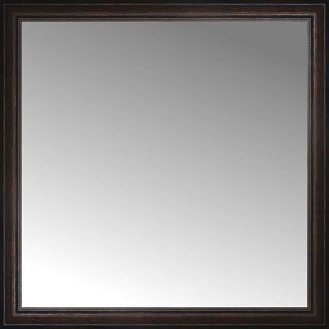 "Bathroom Mirror 60 X 36 36"" x 36"" custom framed mirror - traditional - wall mirrors -"