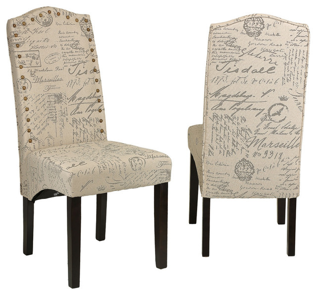 Ebley Dining Chairs, Set Of 2, Beige.
