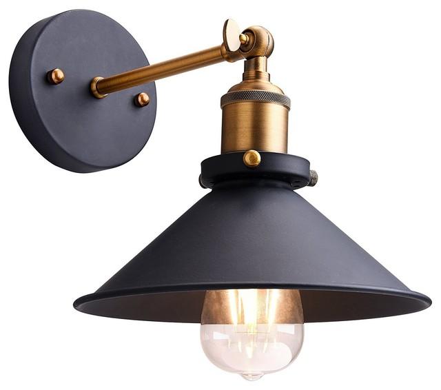 Metal Wall Sconce Lighting Shade Vintage Light Lamp