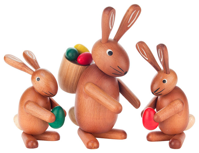 Dregeno Easter Ornament, Rabbit Family.